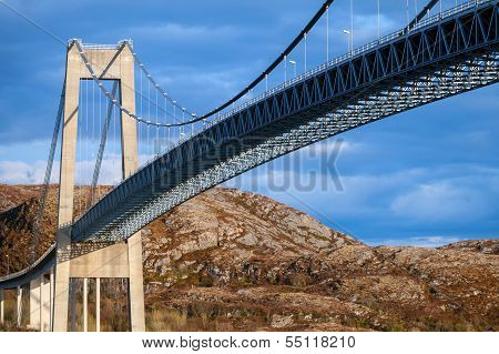 Typical Automobile Cable-stayed Bridge. Rorvik, Norway