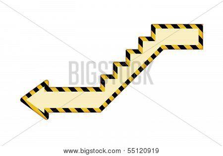 Stair arrow icon