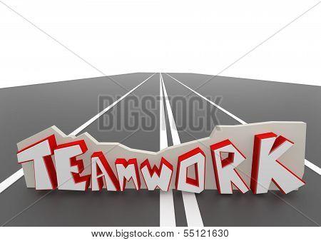 Teamwork on road