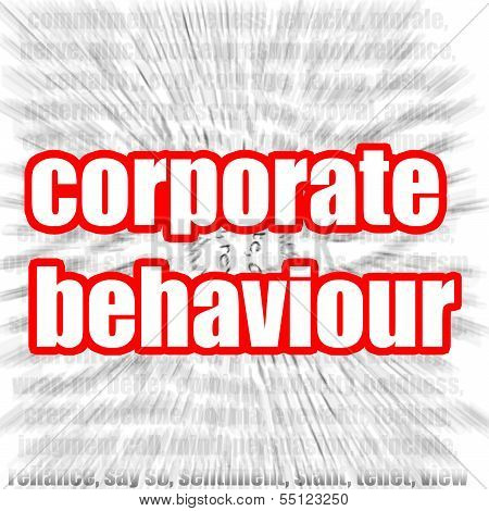 Corporate behaviour