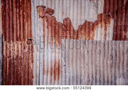Old Galvanized Iron Wall Texture