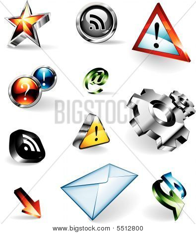 Shiny 3D Vector Icons