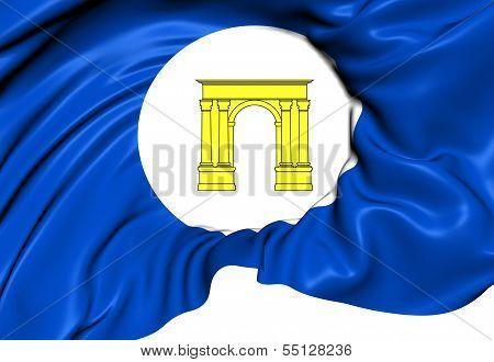 Flag Of Roda De Bera, Spain.