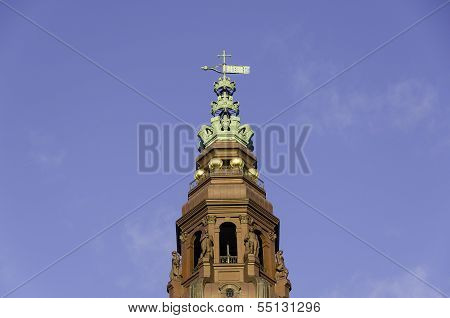 Tower Of Christiansborg Castle The Danish Parliament Building