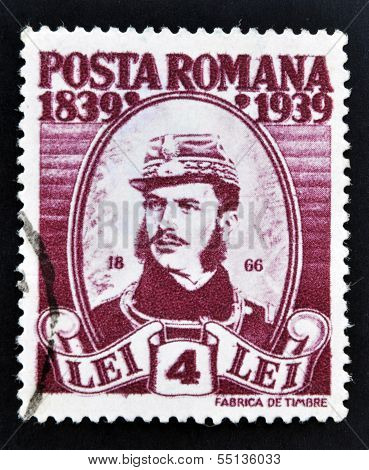 stamp printed in Romania show General