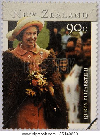 NEW ZEALAND - CIRCA 2001: stamp printed in New Zealand shows Queen Elizabeth II circa 2001
