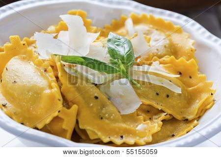 Butternut Squash Mezzaluna Ravioli