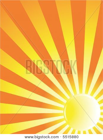 Yellow Sun Ray Background