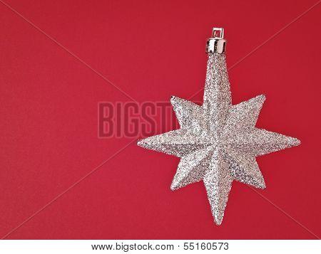 Sliver Star On Red