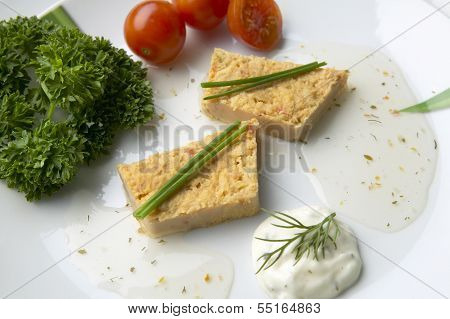 Slices Of Fish Pie On A Plate
