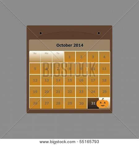 Design Schedule Monthly October 2014 Calendar