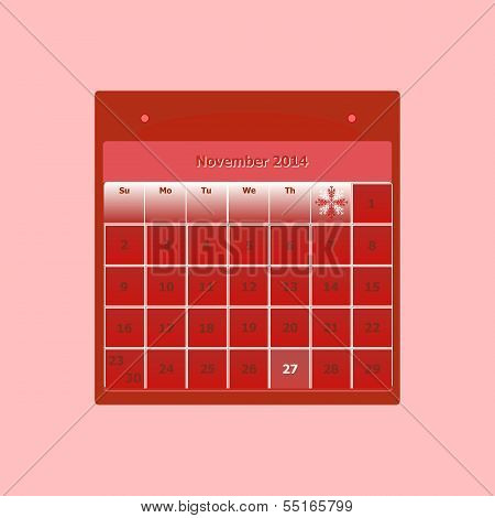Design Schedule Monthly November 2014 Calendar
