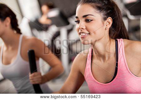 Elliptical training at the gym