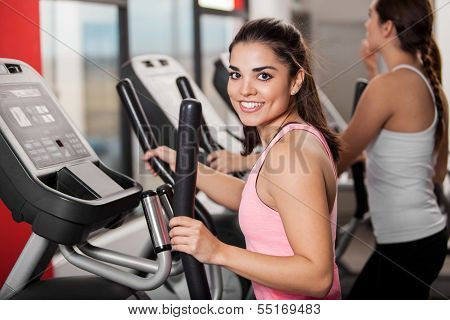 I love working out at the gym