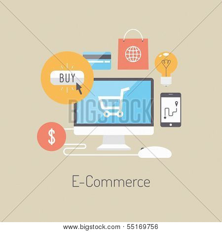 E-Commerce flache Illustration Konzept