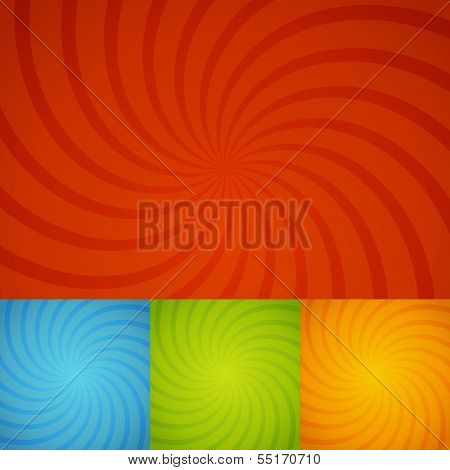Set Colorful Twirl Background