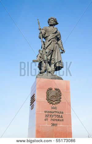 Monument To The Founders Of Irkutsk. Russia.