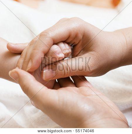 Baby Feet Massaging