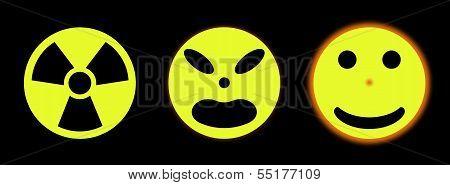 Nuclear Sign Transforming A Sun