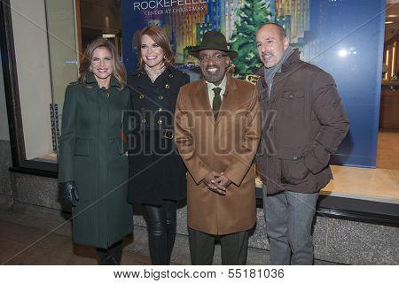 NEW YORK-DEC 4: (L-R) Natalie Morales, Savannah Guthrie, Al Roker and Matt Lauer attend the 81st Annual Rockefeller Center Christmas Tree Lighting Concert on December 4, 2013 in New York City.