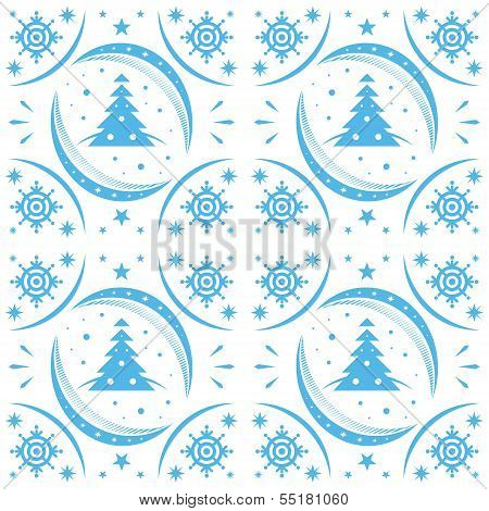 Winter Pattern Blue