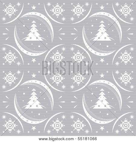 Winter Pattern Silver