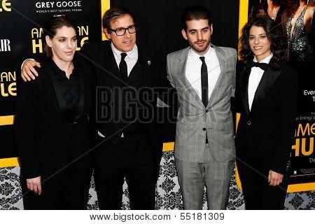 NEW YORK-DEC 8: (L-R) Megan Ellison, David O. Russell, Matthew Budman and guest attend the