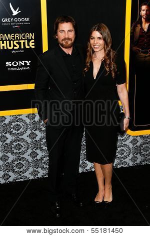 NEW YORK-DEC 8: Actor Christian Bale and wife Sibi Blazic attend the