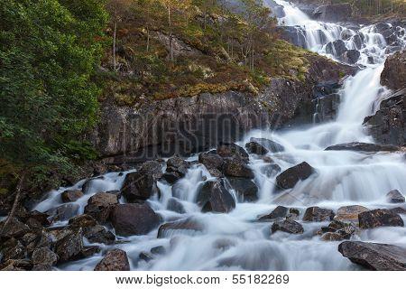 Langfoss waterfall, Norway