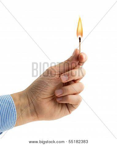 lighted matchstick