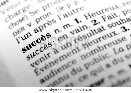 Success In French Dictionary