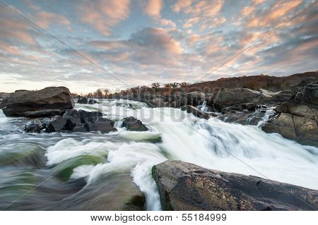 Potomac River Great Falls Sunrise Scenic
