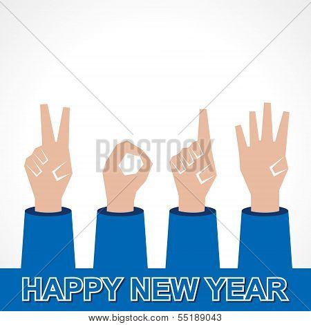 creative happy new year 2014 design