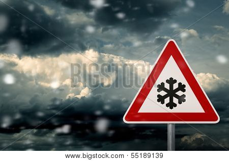 caution snow
