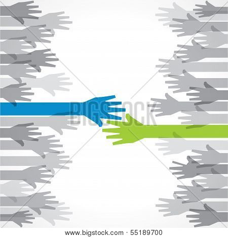 Businessman hand shaking stock vector