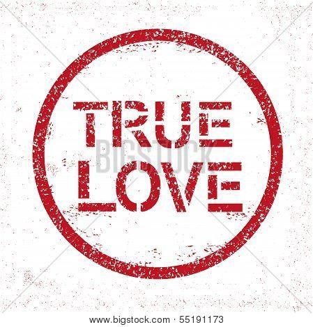 Grunge stamp True Love