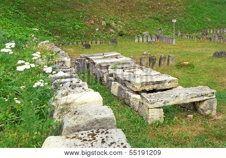 Sarmizegetusa Regia Ruins (situated at 1200m altitude  - it was the strategical centre of the dacian defensive system in Orastiei Mountains)