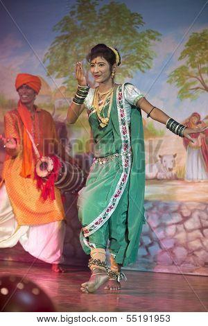 Traditional Dressed Dancer In Khajuraho