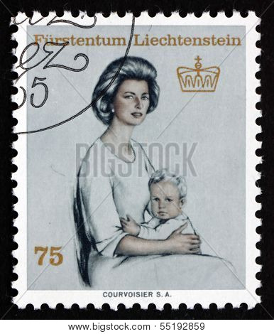 Postage Stamp Liechtenstein 1965 Princess Gina And Prince Franz