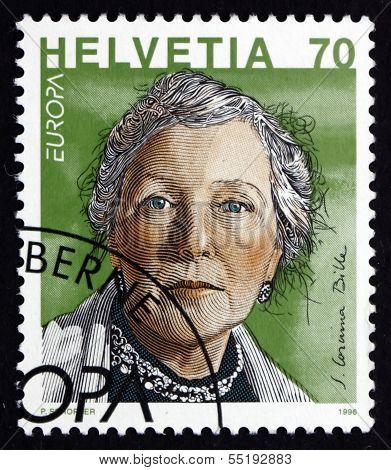 Postage Stamp Switzerland 1996 S.corinna Bille, Writer