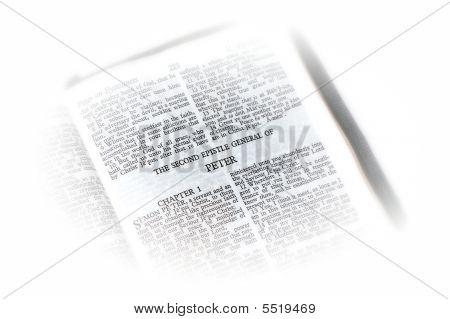 Bíblia aberta a vinheta de Peter