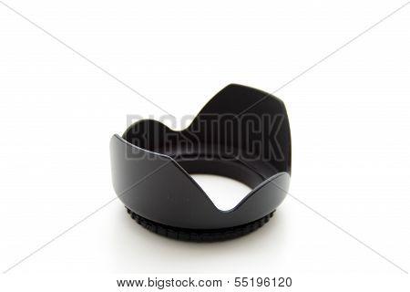 Black Objective Lens Hood on white background