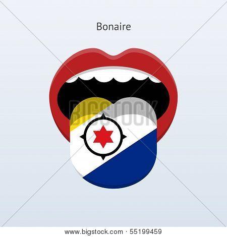 Bonaire language. Abstract human tongue.