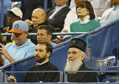 Serbian Orthodox Church Patriarch Irinej Gavrilovic at National Tennis Center during  US Open 2013