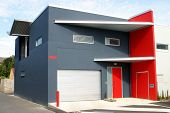 Red And Grey Building poster