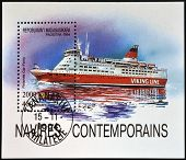 MADAGASCAR - CIRCA 1994: stamp printed in Madagascar shows Finnish car-ferry viking line