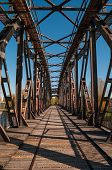 foto of suny  - Old Bridge in Magdeburg in suny day - JPG