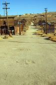 foto of wild west  - old USA western gold ghost mining town of bodie - JPG
