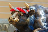 stock photo of oxen  - FUKUOKA JAPAN  - JPG