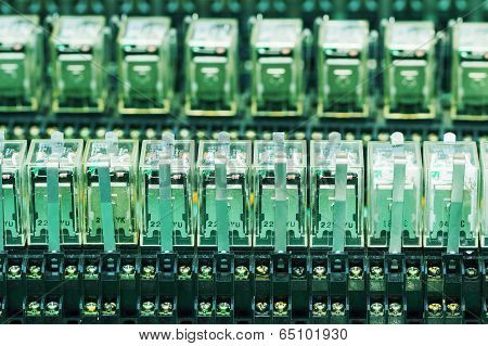 Row Of Relay Actuators